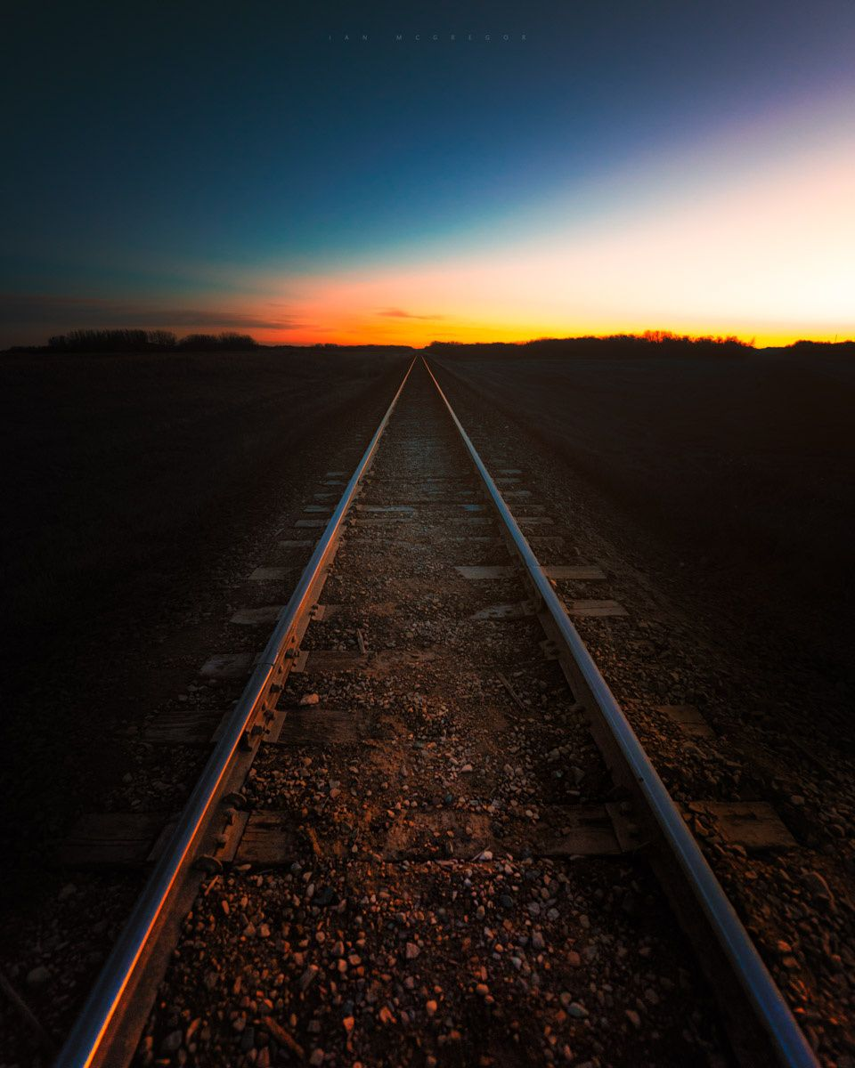 Twilight Perspective - Glowing tracks in the twilight.