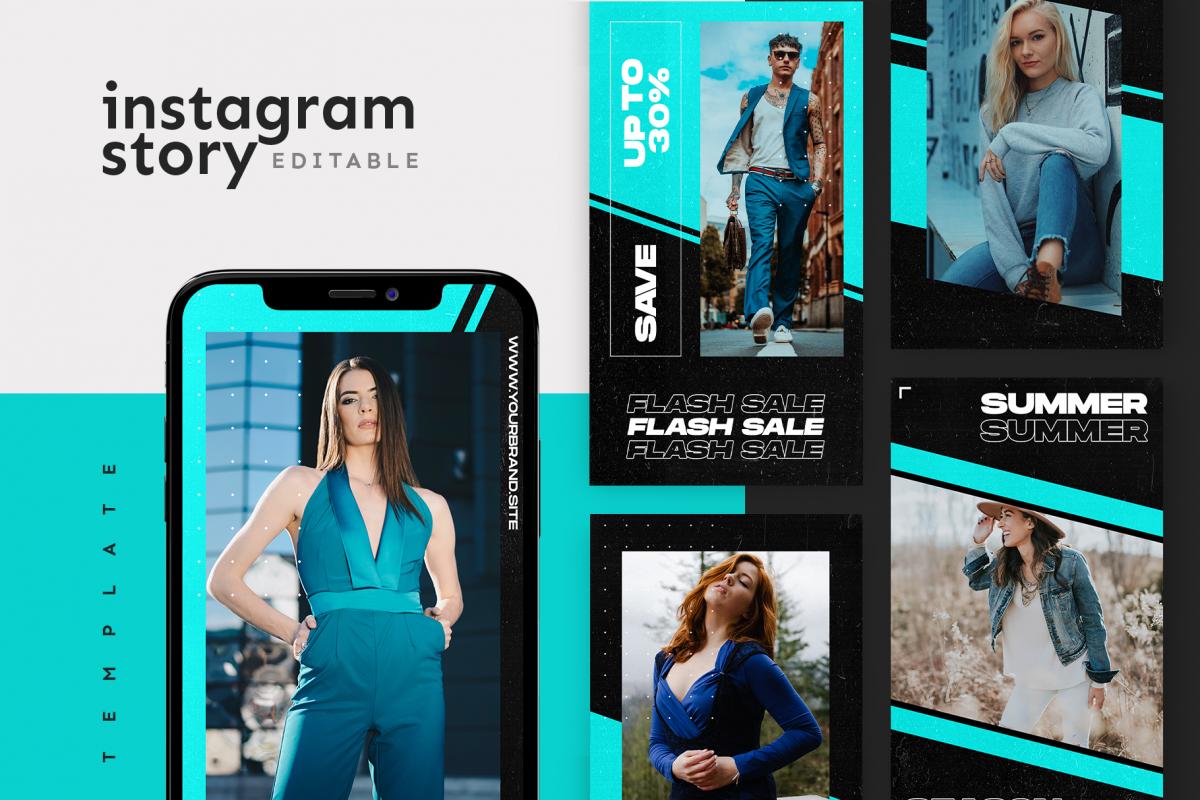 Photo of Instagram Story Template (405980) | Websites | Design Bundles