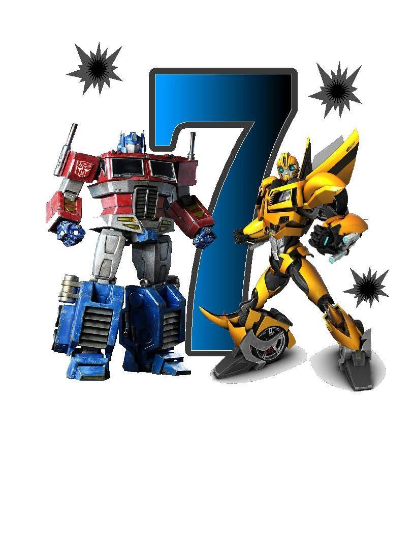 Transformers Optimus Prime Bumblebee Birthday custom Iron on ...