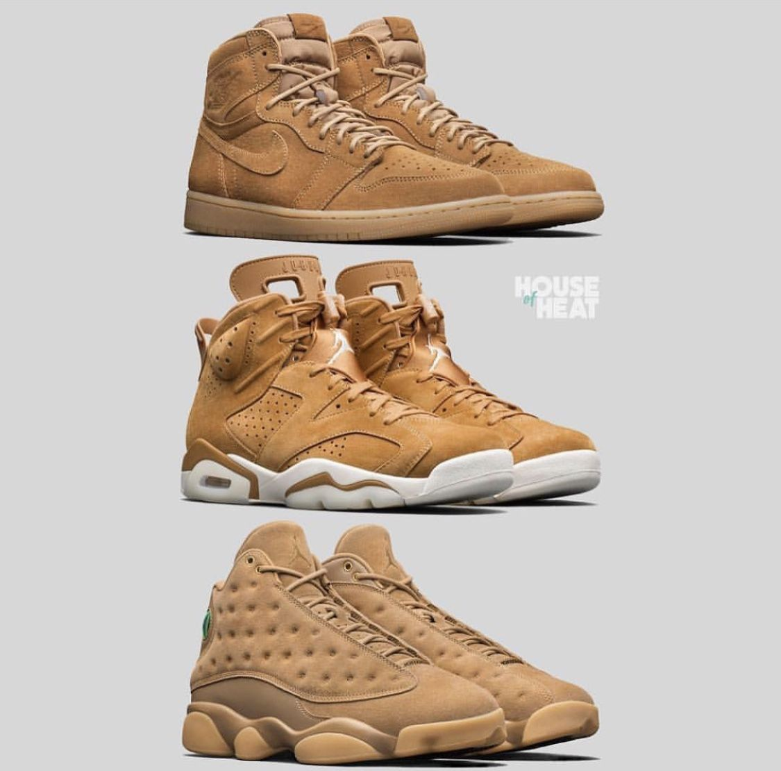 finest selection a2675 ebd3d Air Jordan Wheat Collection. Air Jordan Wheat Collection Running Shoes Nike  ...