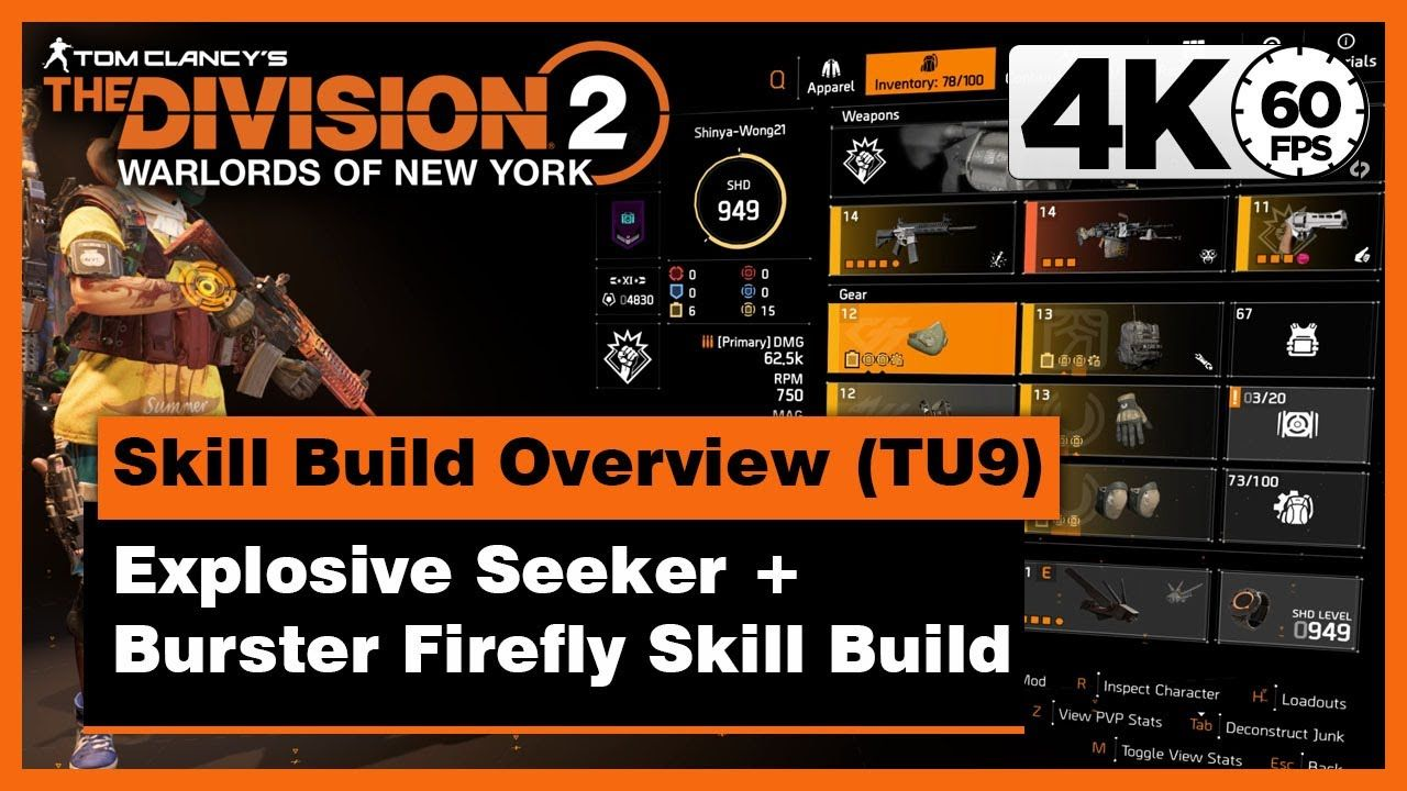 Division 2 Tu9 Explosive Skill Build Overview Explosive Seeker B Skills Tom Clancy The Division Seeker