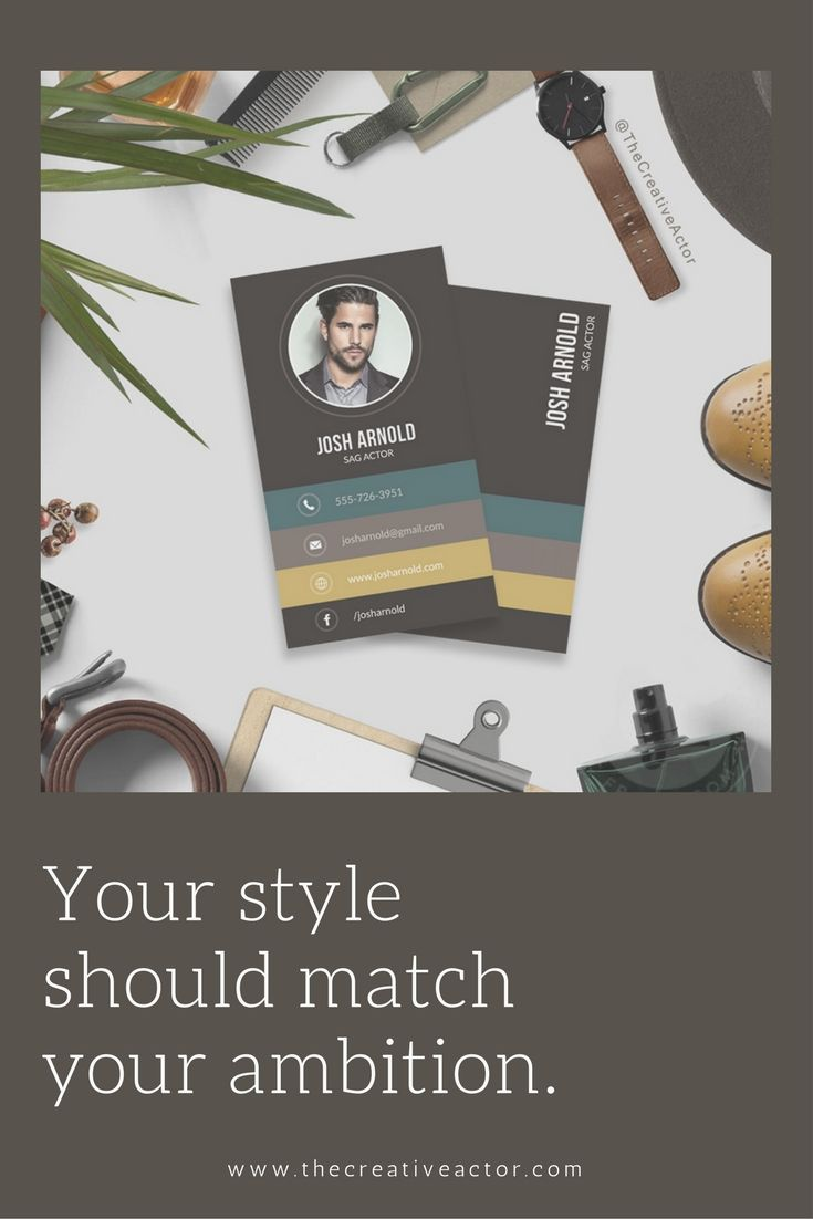 Photo business card designs (aka calling cards) for actors, singers ...