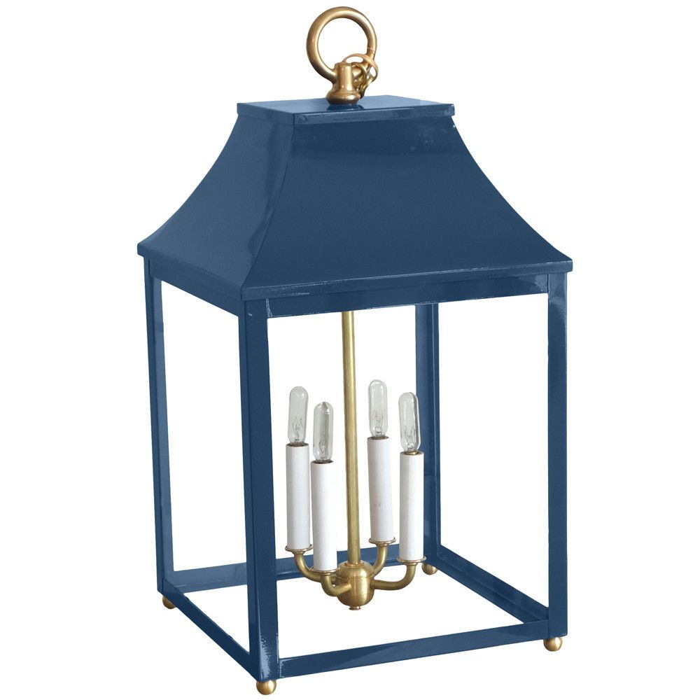 Classic Lacquered Indoor/Outdoor Lantern   Blue
