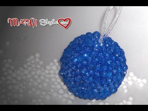 Sfere in polistirolo decorate con perle finte   MarGistyle