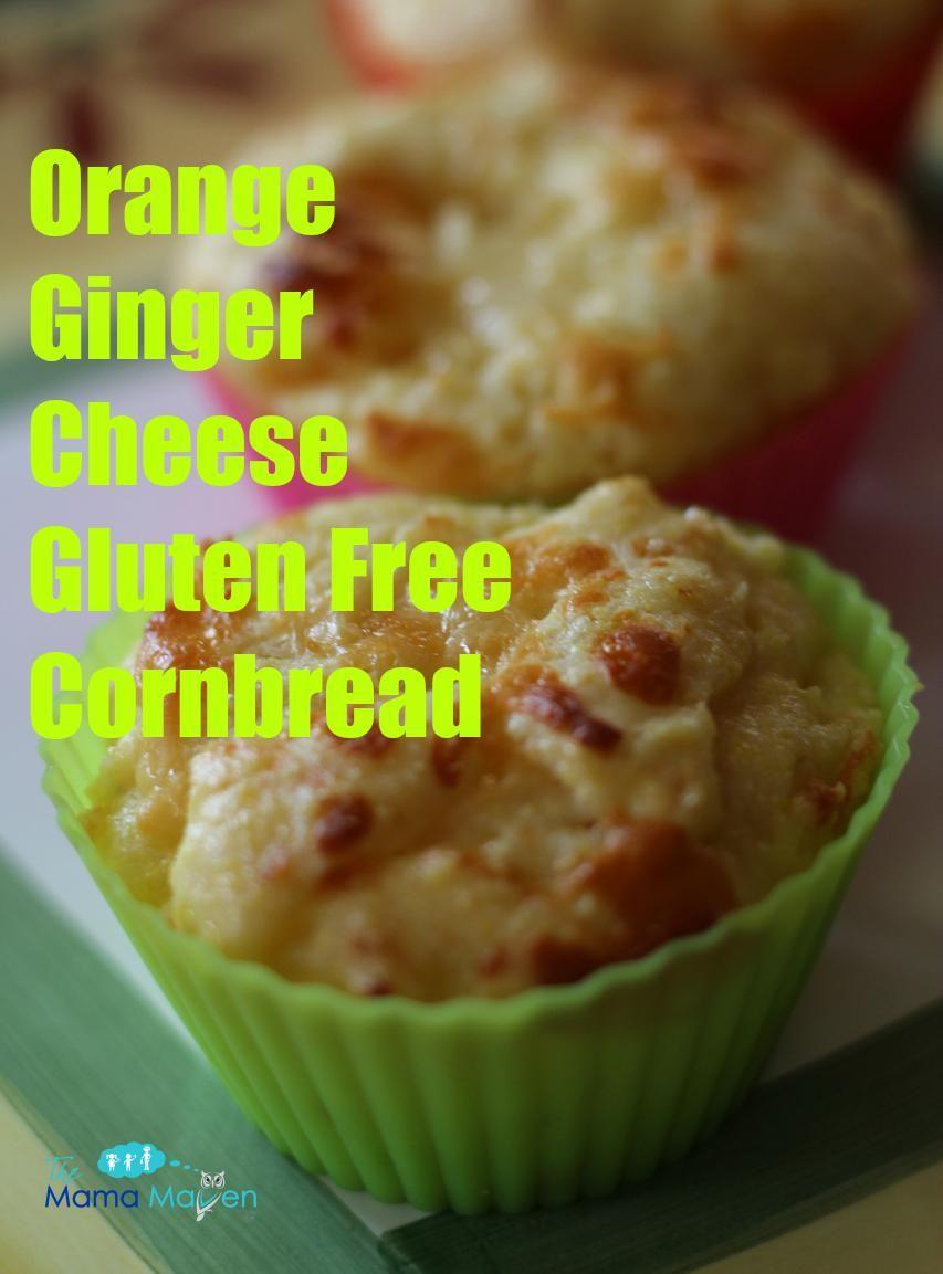 Orange Ginger Cheese Gluten Free Cornbread #AD @SincerelyBrig #recipes #glutenfree