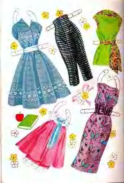 Sandra Dee paper doll clothes / eBay
