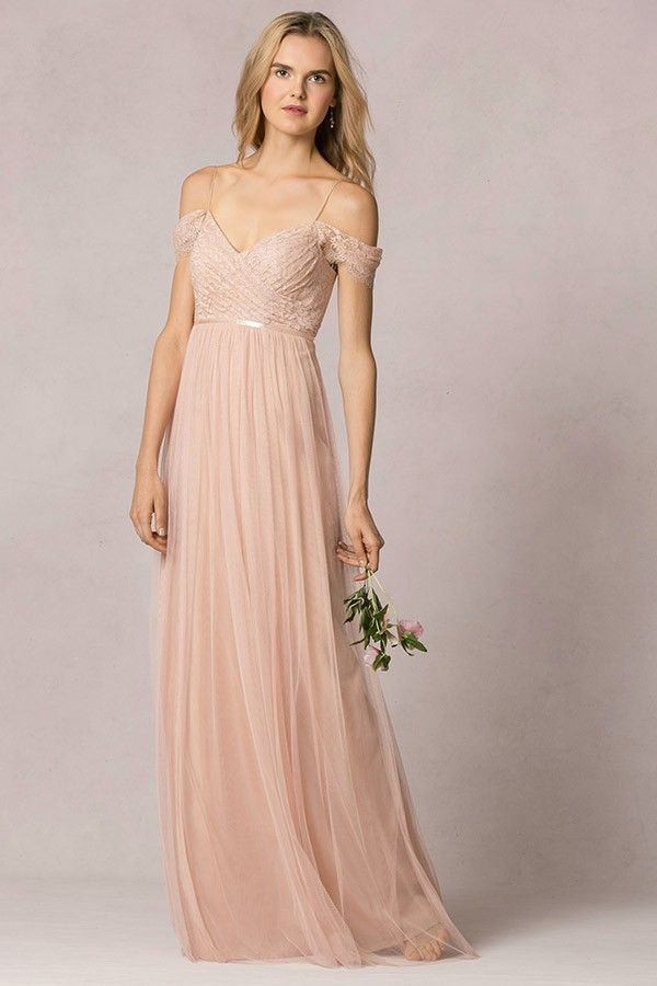 Lace and tulle bridesmaid dresses images