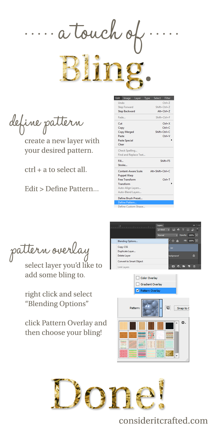 photoshop how to add a pattern overlay