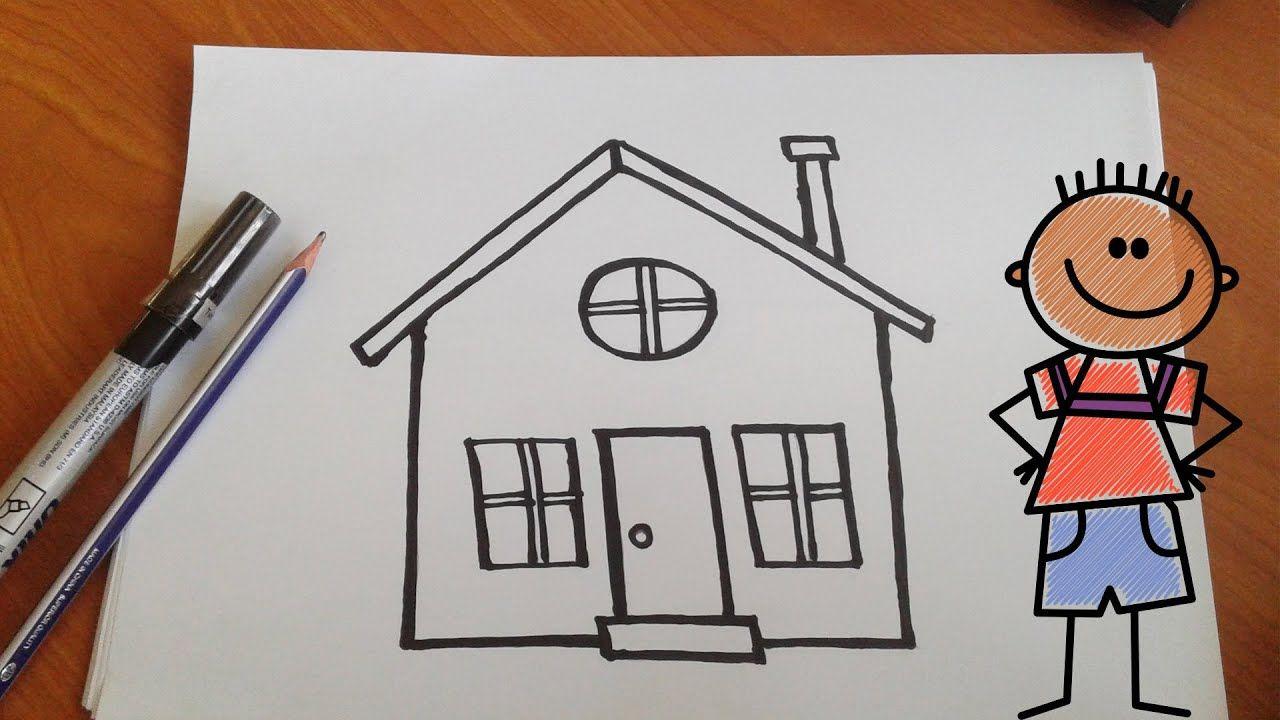 كيفية رسم بيت تعليم الرسم للاطفال Drawing Videos Drawings Drawing For Kids