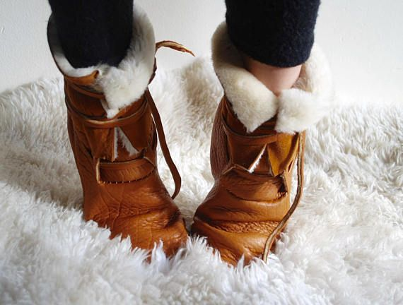 b0a208cac The Shearling Winter Moccasin Boot with front lace-up | Shoes ...