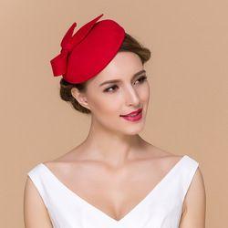 707363a9e9b Online Shop Red black Womens Dress Vintage Fascinator 100% Wool Pillbox Hat  Party Wedding Bow Veil