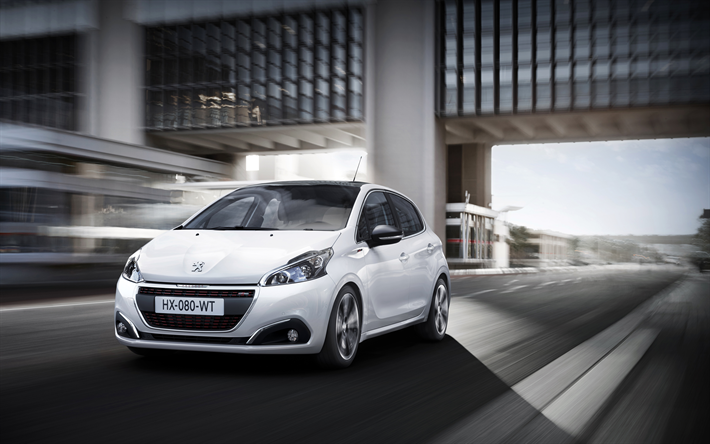 Download wallpapers Peugeot 208, 4k, 2018 cars, road, white 208 ...