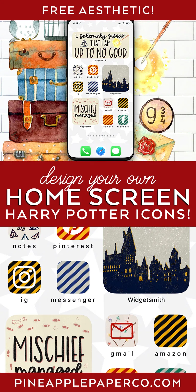 Free Harry Potter Aesthetic Widget And App Icons Harry Potter Iphone Harry Potter Icons Harry Potter Aesthetic