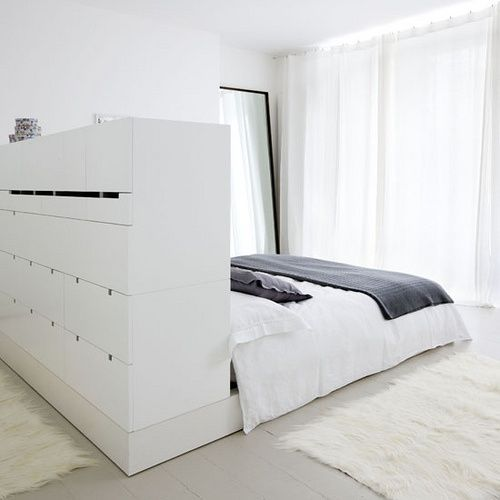 Good use of space| cabinet headboard