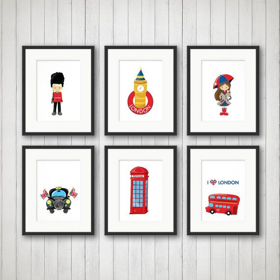 London Wall Art   London Decor, Boy Or Girl Room Decor, Childrenu0027s Iconic  Decor