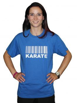 T-Shirt Barcode Karate