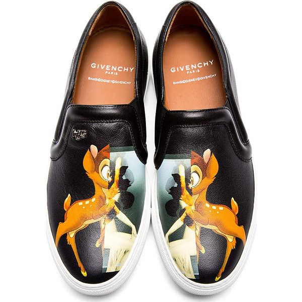 Givenchy Black Bambi Slip-On Shoes