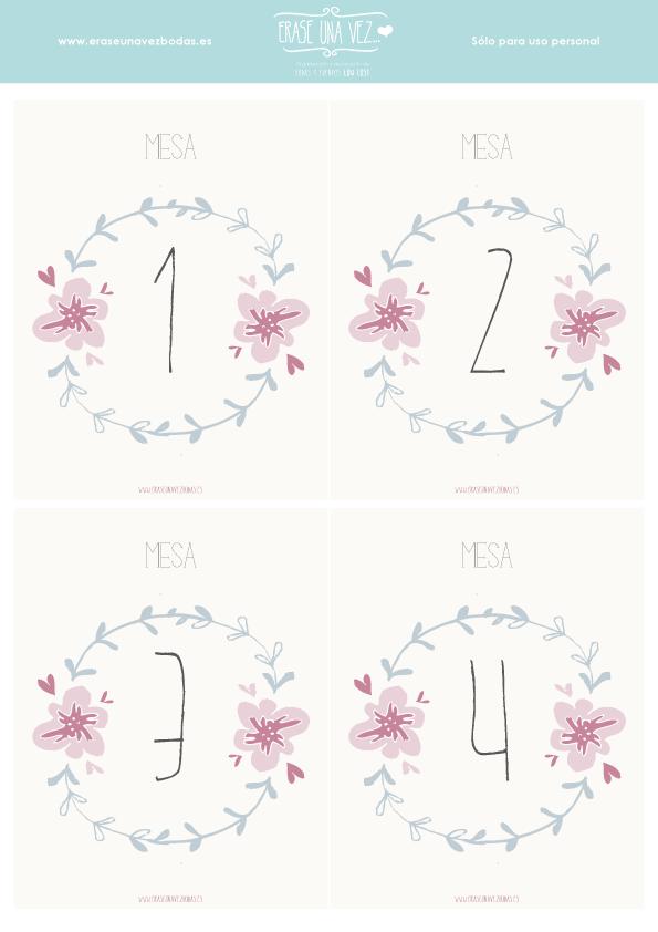 Imprimible: números de mesa | Bodas | Pinterest | Table numbers ...