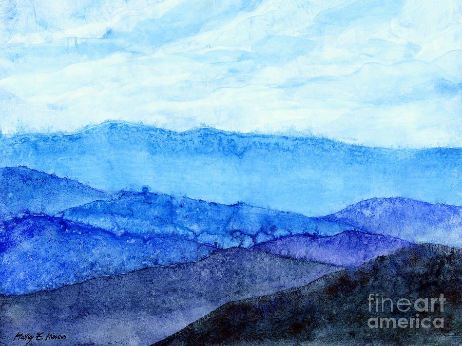Mountain Painting - Blue Ridge Mountains by Hailey E Herrera