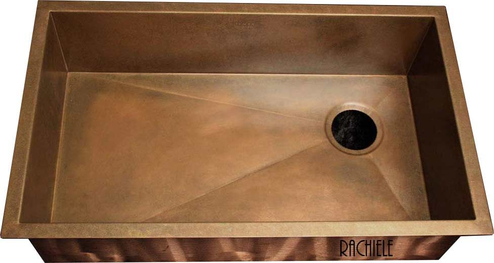 Copper under mount kitchen sinks made in the USA by Rachiele ...