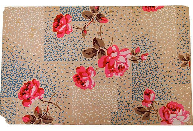 Vintage Handpainted Wallpaper, Paris  sfgirlbybay / victoria smith onto pattern
