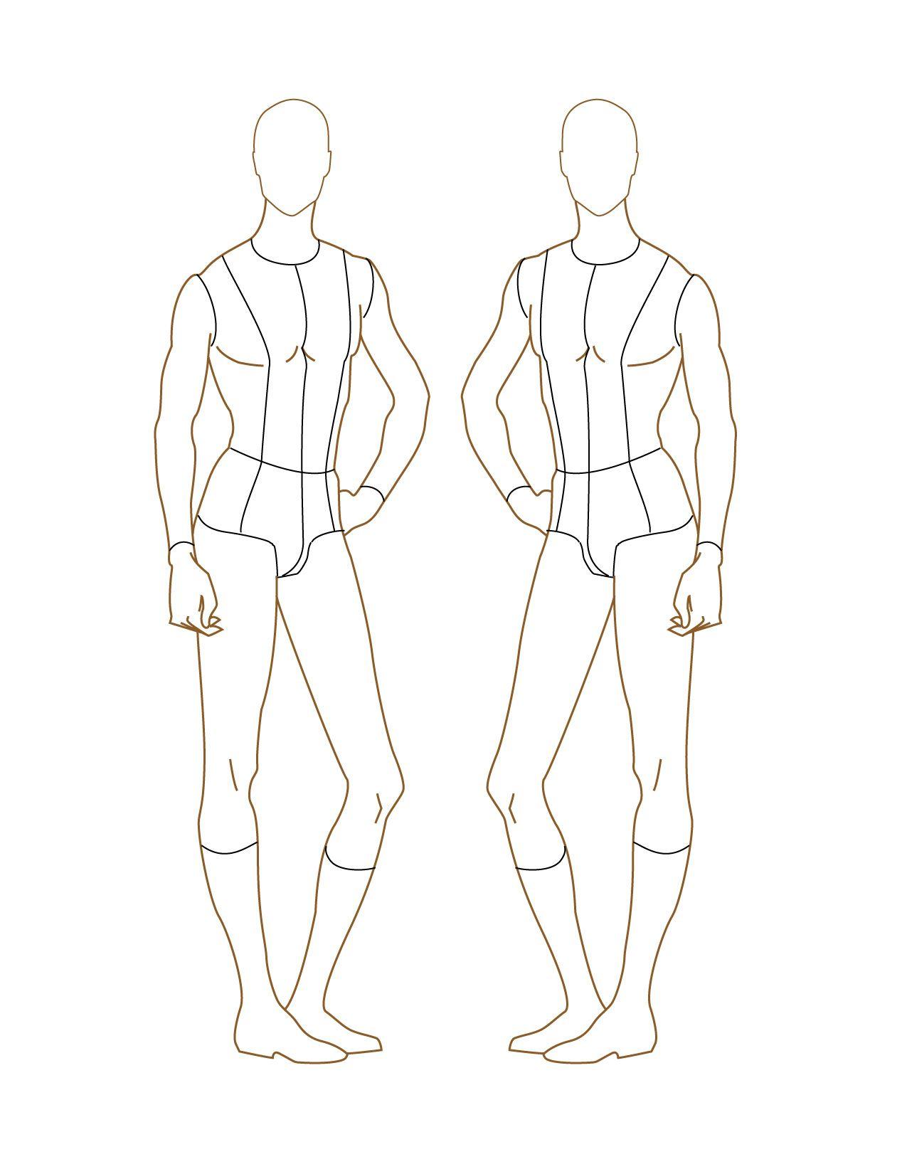 male-fashion-figure-croqui-009.jpg 1,275×1,650 pixels | Human ...