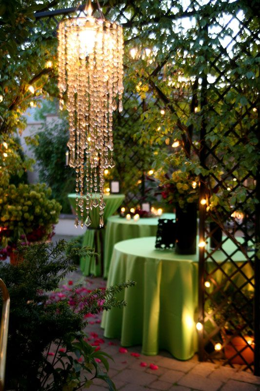 Gorgeous Chandelier Outdoors