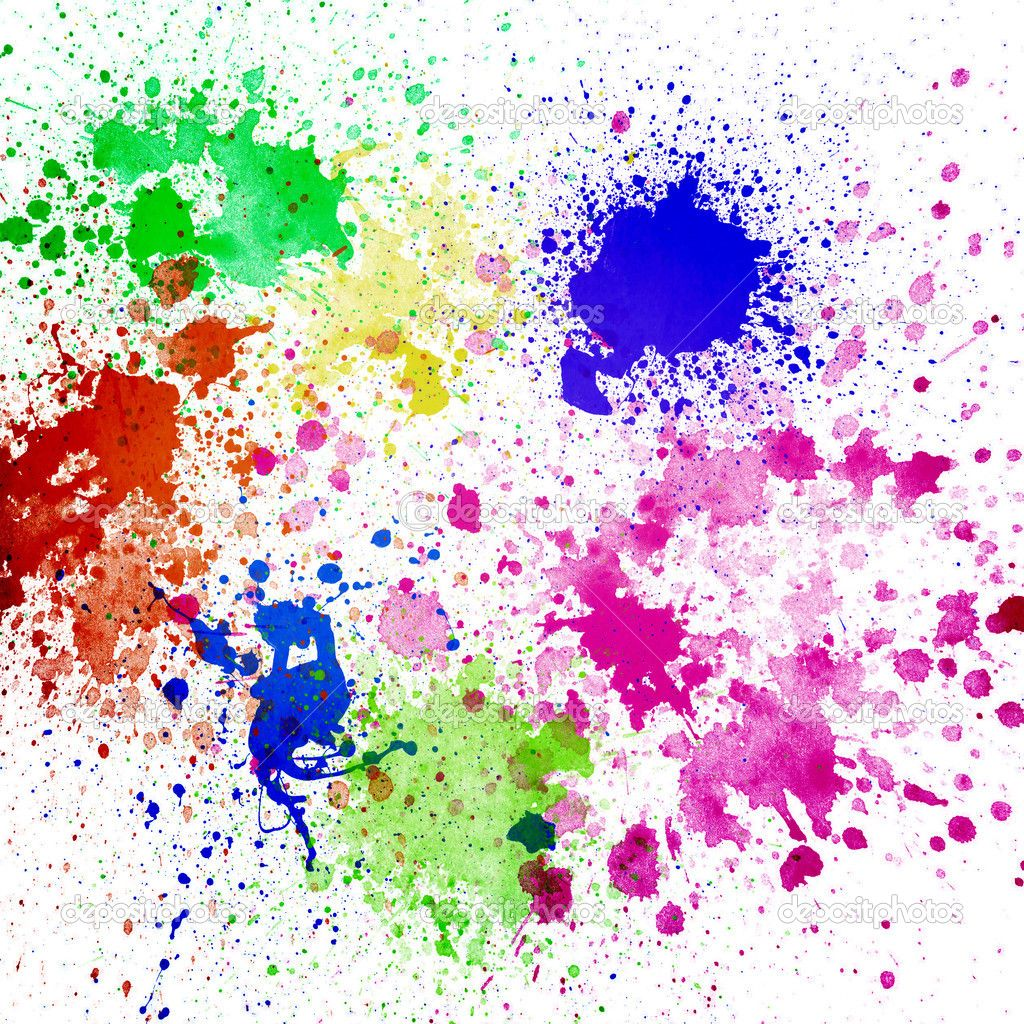 depositphotos_22831378-Splashes-of-colorful-ink-on-white ...
