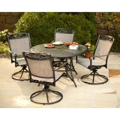 Hampton Bay Santa Maria 5 Piece Patio Dining Set S5 Adq10801 At