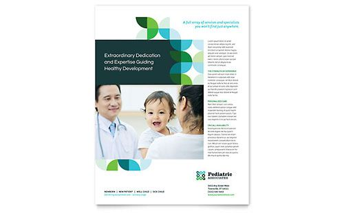 Pediatric Doctor Flyer Template Design Hospitals Pinterest - free pamphlet templates