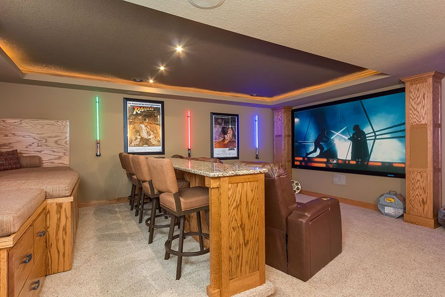 Basement Home Theatre Ideas Property 23 basement home theater design ideas for entertainment | bar