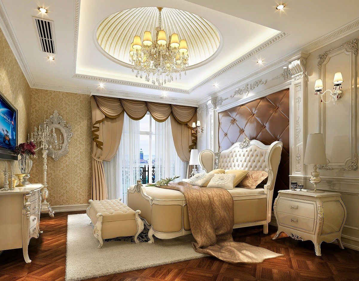 European Luxury Bedroom Ceiling Design