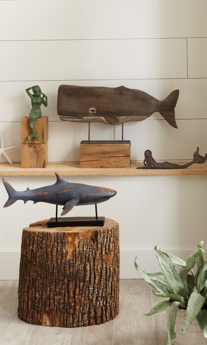 Make a whale of a statement with our charismatic Moby Statuary. At once realistic and vintage, Moby is made from mangowood that has been handcarved and hand-finished to let the natural beauty of the wood shine.
