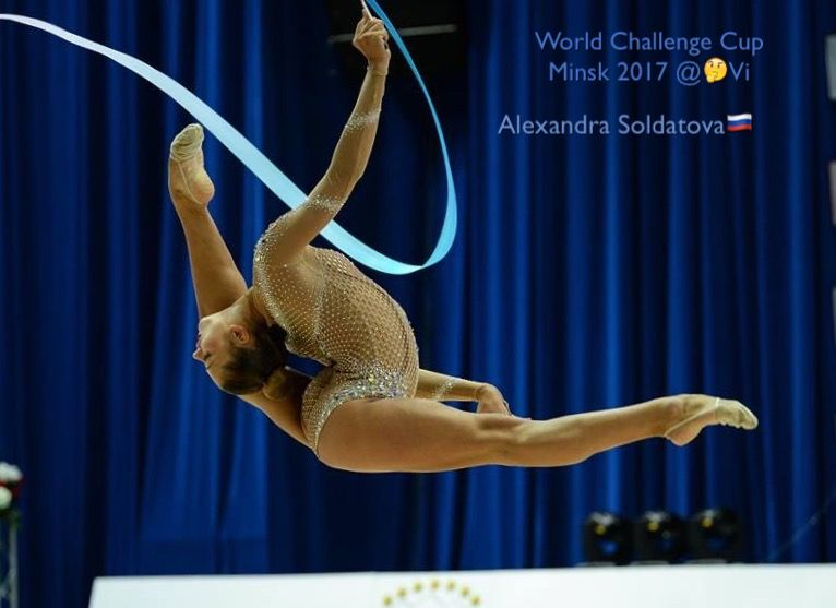 Alexandra SOLDATOVA (Russia)🇷🇺 ~ Ribbon @ World Challenge Cup Minsk 05-06/08/'17🇧🇾 😊😊 Photographer 🇧🇾Pawel S.