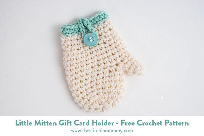 Little Mitten Gift Card Holder - Free Crochet Pattern ...