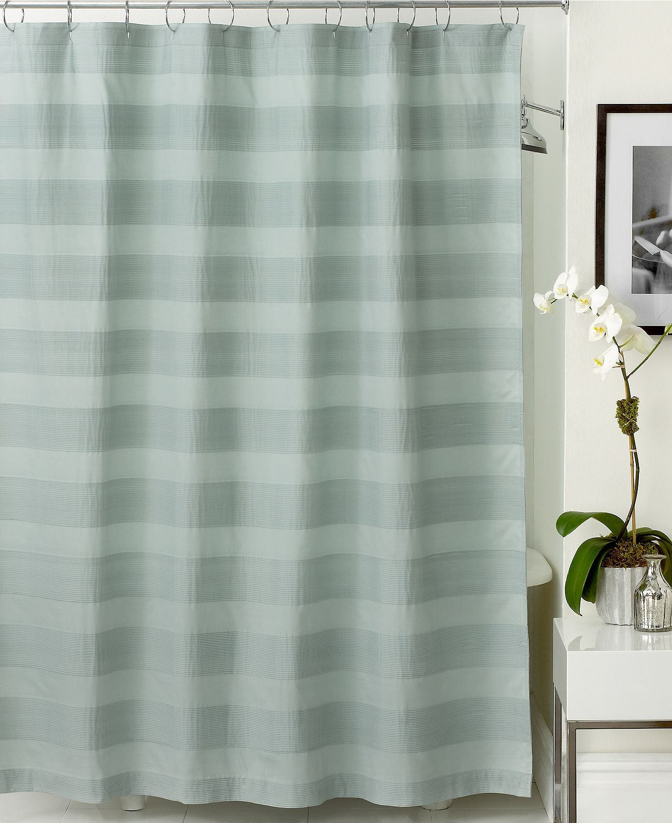 Hotel Collection Bath Accessories Woven Pleat Shower Curtain