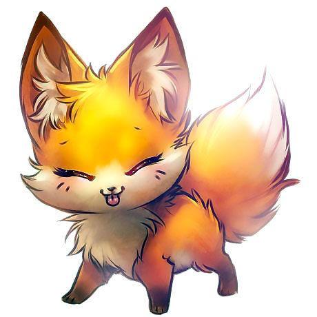 Cute Little Fox Anime Tattoo Design Cute Animal Drawings Animal