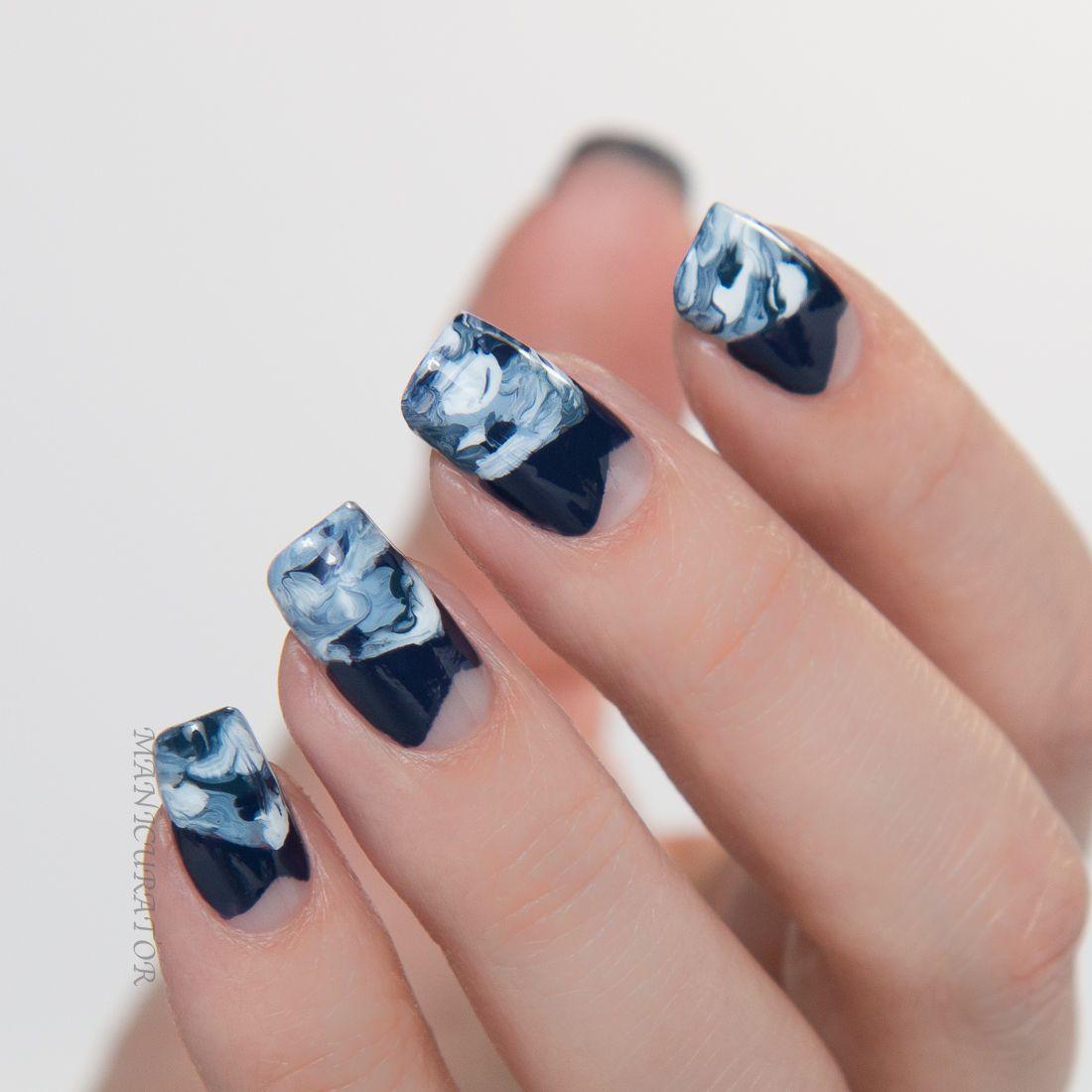 Dark blue nails inspired by Caroline Herrera by #Manicurator for Day ...
