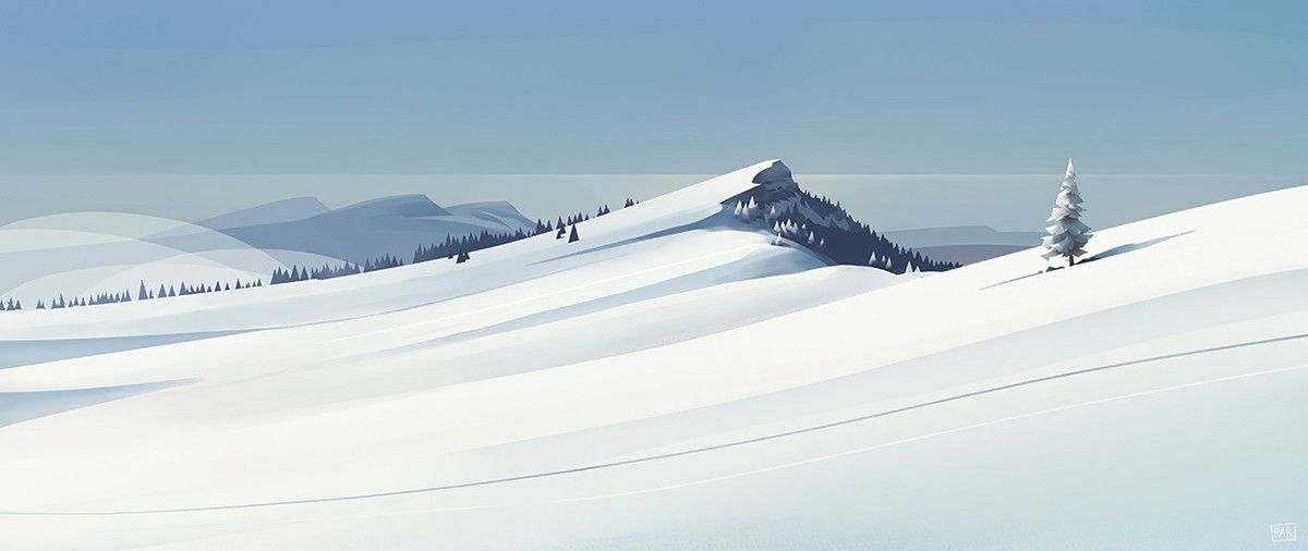 Paysages hivernaux on Behance | Game background art ...