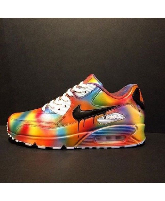36b3ec7e62 Nike Air Max 90 Candy Drip Rainbow Custom UK | nike air max 90 candy ...