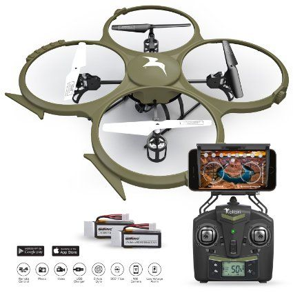 Kolibri U818A Wi Fi Discovery Delta Recon Quadcopter Drone Tactical Edition With 720p HD