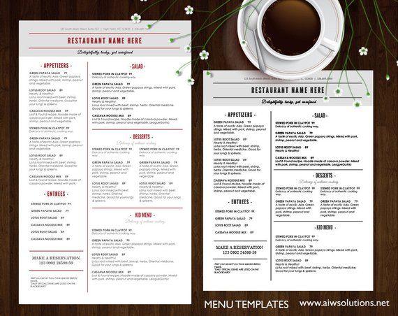 food menu templates printable restaurant menu template elegant