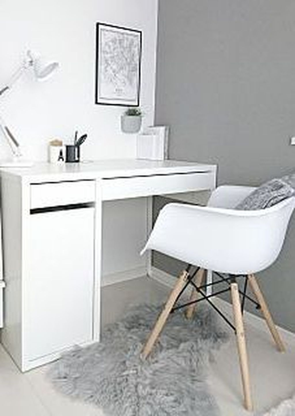33 Stunning Workspace Design Ideas With Ikea Micke Desk That You Will Like It In 2020 Bedroom Desk Decor Ikea Micke Desk Micke Desk