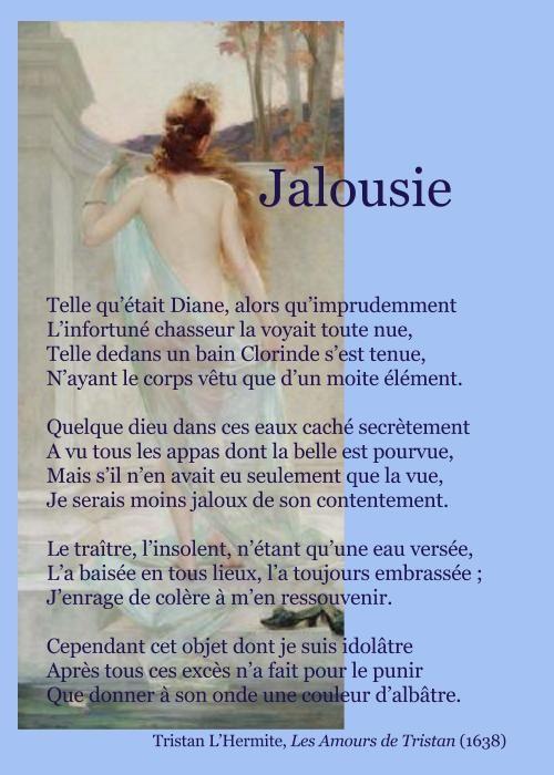 Tristan Lhermite Jalousie Poésie Jalousie Poésie