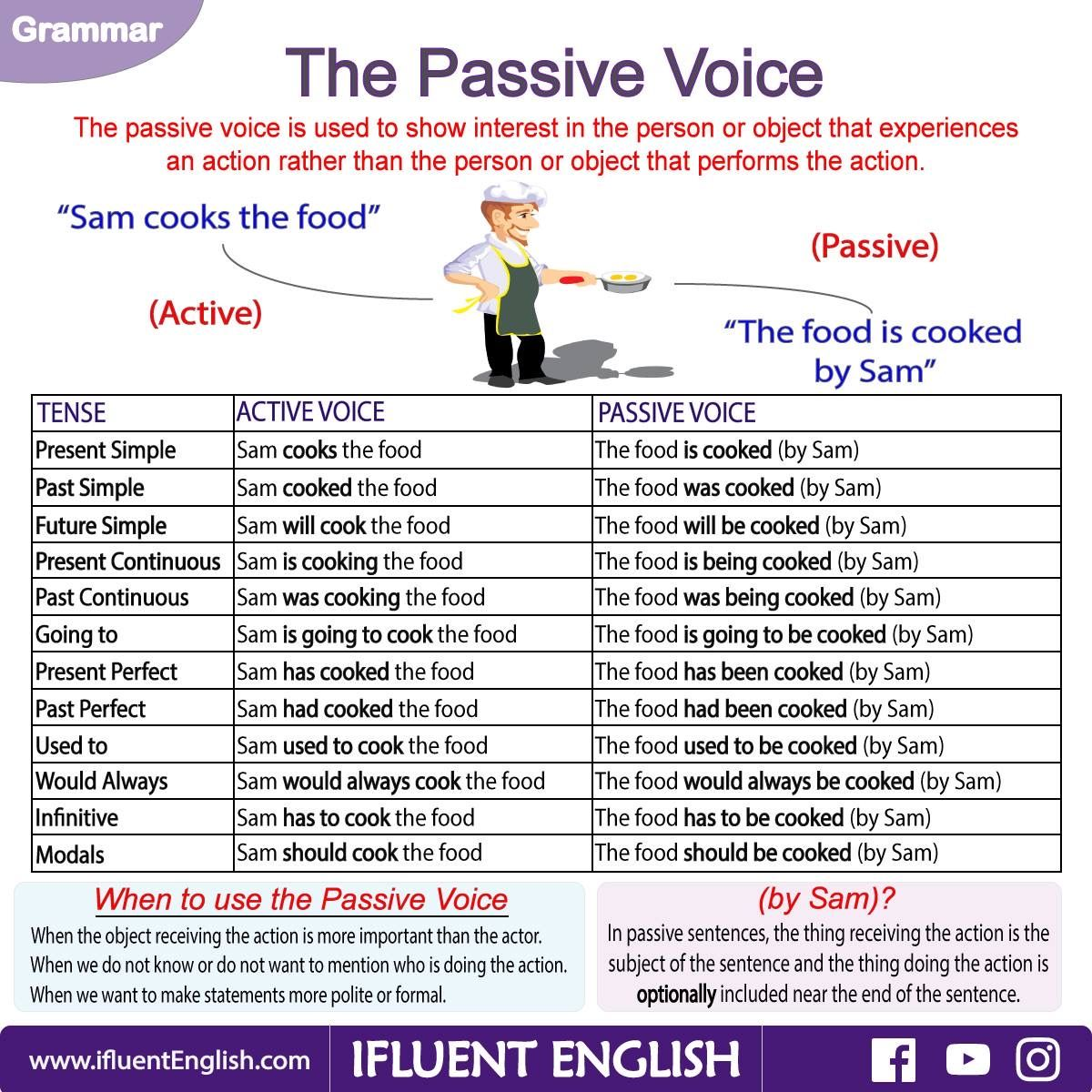 The Passive Voice And All Of The Various Sentences Modeled