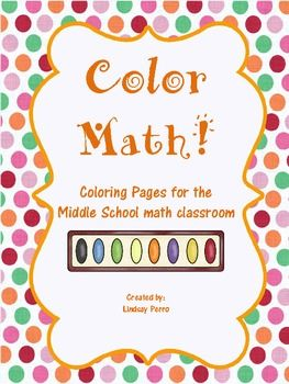 Middle School Math Coloring Pages Bundle Middle school maths