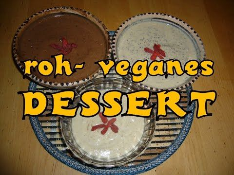 Vegane Rohkost: Avocado-Mandeldessert - YouTube