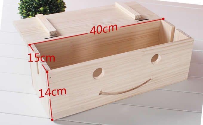 Wooden Smiley Face Wire Cable Organizers Storage Box Cuadros Para Banos Bancos De Almacenamiento Muebles De Madera