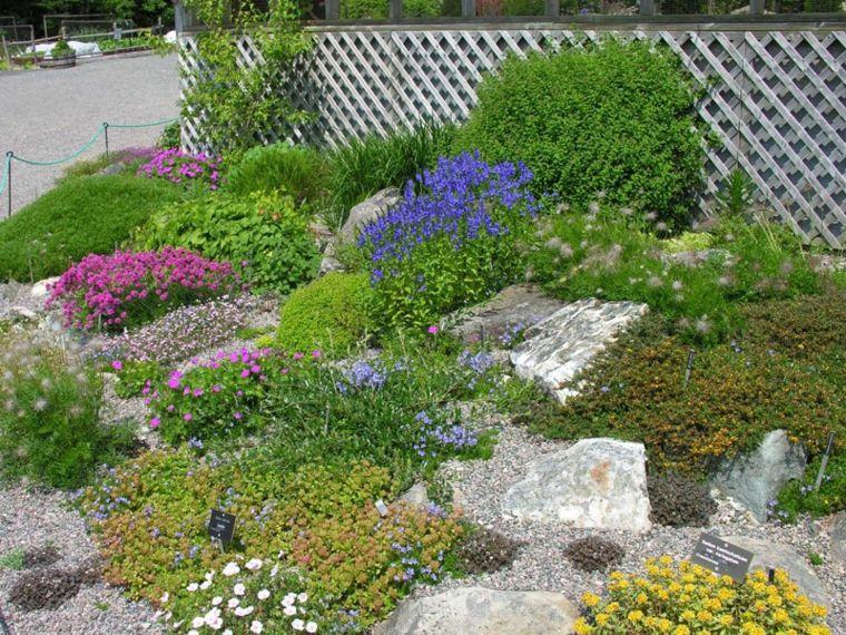 Plantas rastreras jardines pinterest jardines - Plantas para rocallas ...