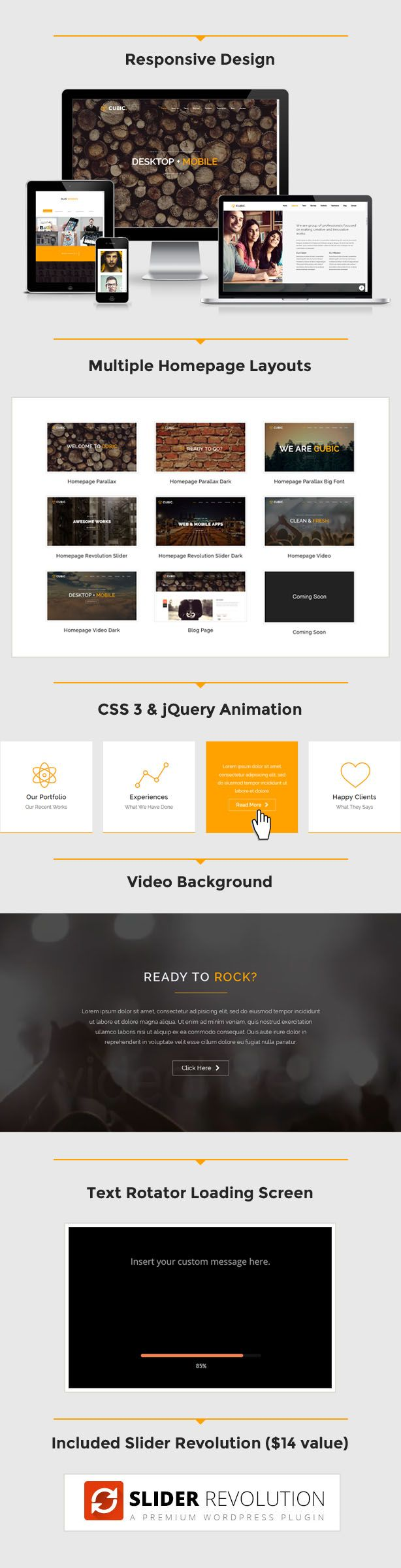 Cubic - One Page Responsive HTML Template | Template
